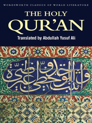 cover image of The Holy Qur'an