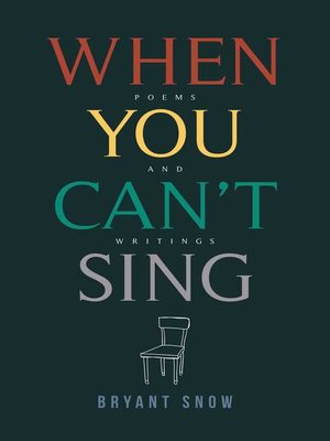 cover image of When You Can't Sing