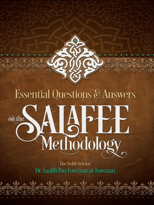 cover image of Essential Questions and Answers on the Salafee Methodology
