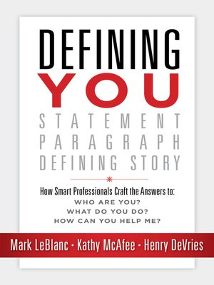 cover image of Defining You