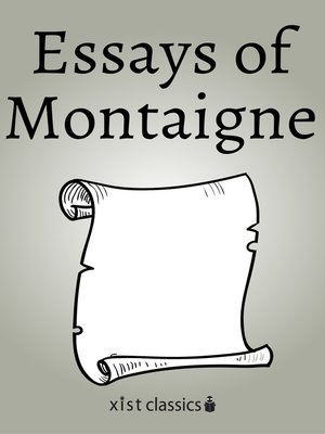 cover image of Essays of Montaigne