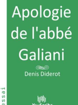cover image of Apologie de l'abbé Galiani