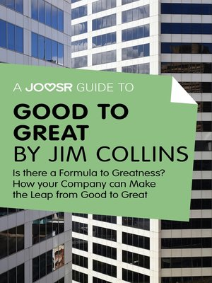 cover image of A Joosr Guide to... Good to Great by Jim Collins