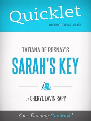 cover image of Quicklet on Tatiana De Rosnay's Sarah's Key
