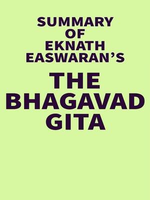 cover image of Summary of Eknath Easwaran's the Bhagavad Gita