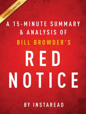 cover image of Red Notice by Bill Browder