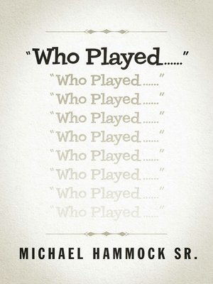 """cover image of """"Who Played......"""""""
