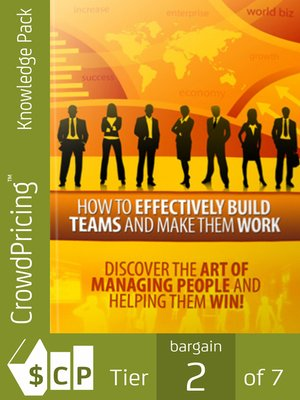 cover image of How to Effectively Build Teams and Make Them Work
