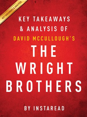 cover image of The Wright Brothers by David McCullough / Key Takeaways & Analysis