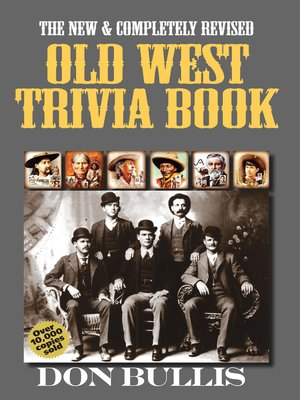 cover image of Old West Trivia Book