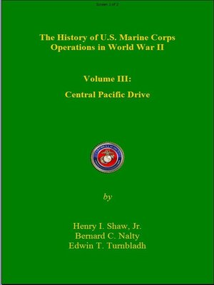 cover image of The History of US Marine Corps Operation in WWII, Volume 3