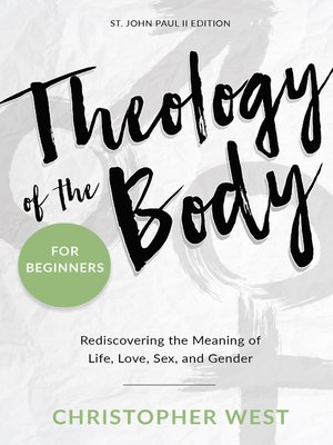 cover image of Theology of the Body for Beginners