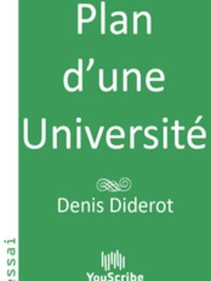 cover image of Plan d'une Université