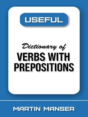 cover image of Useful Dictionary of Verbs With Prepositions
