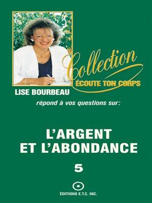 cover image of L'argent et l'abondance