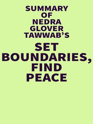 cover image of Summary of Nedra Glover Tawwab's Set Boundaries, Find Peace