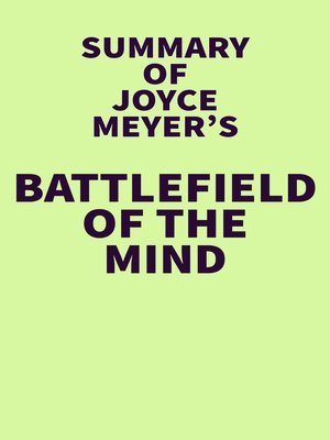 cover image of Summary of Joyce Meyer's Battlefield of the Mind