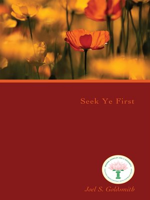 cover image of Seek Ye First