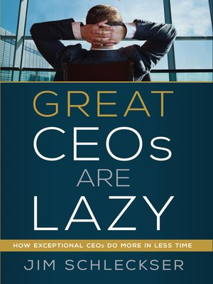 cover image of Great Ceos Are Lazy