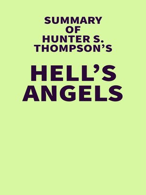 cover image of Summary of Hunter S. Thompson's Hell's Angels