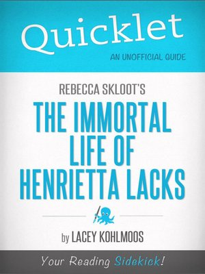 cover image of Quicklet on Rebecca Skloot's The Immortal Life of Henrietta Lacks