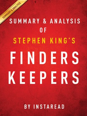 cover image of Finders Keepers by Stephen King / Summary & Analysis