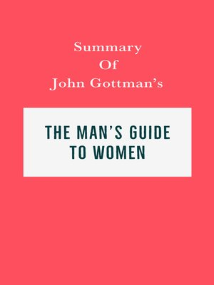 cover image of Summary of John Gottman's the Man's Guide to Women