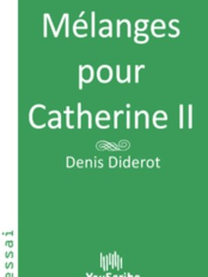 cover image of Mélanges pour Catherine II