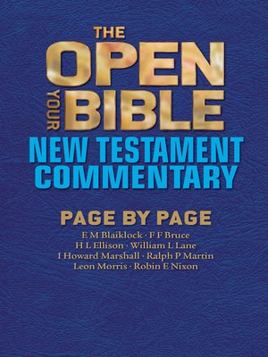 cover image of The Open Your Bible New Testament Commentary
