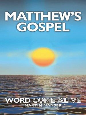 cover image of Matthew's Gospel
