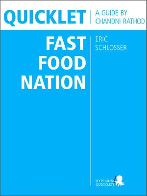 cover image of Quicklet on Eric Schlosser's Fast Food Nation