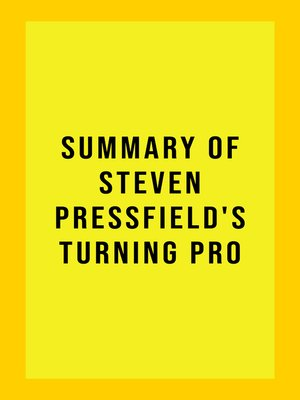 cover image of Summary of Steven Pressfield's Turning Pro