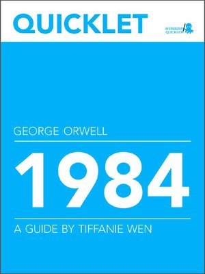 cover image of Quicklet on George Orwell's 1984