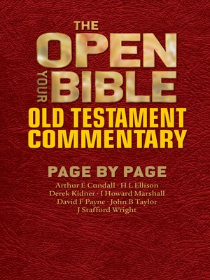 cover image of The Open Your Bible Old Testament Commentary