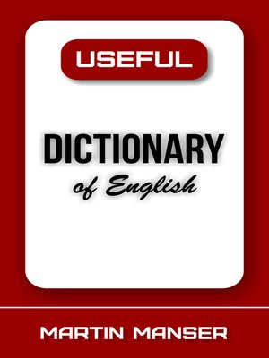 cover image of Useful Dictionary of English