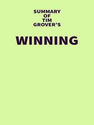 cover image of Summary of Tim Grover's Winning