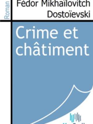 cover image of Crime et châtiment