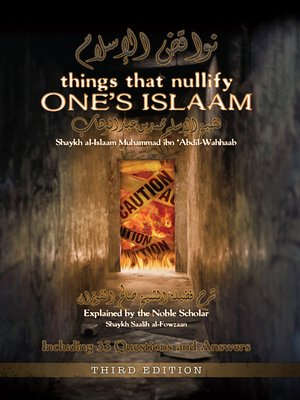 cover image of Things that Nullify One's Islaam