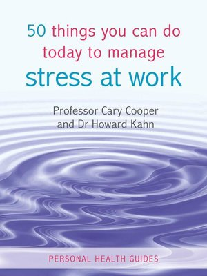 cover image of 50 Things You Can Do Today to Manage Stress at Work