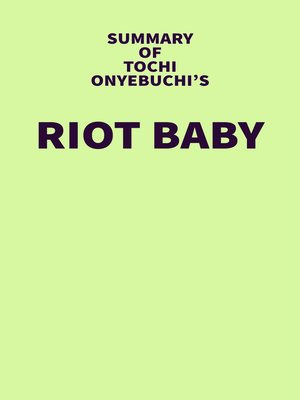 cover image of Summary of Tochi Onyebuchi's Riot Baby
