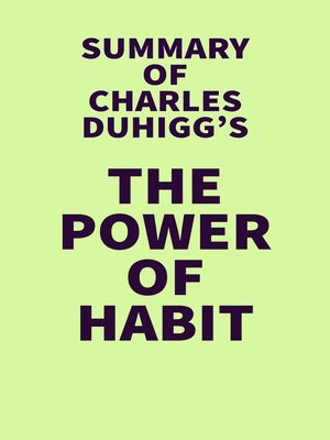 cover image of Summary of Charles Duhigg's the Power of Habit