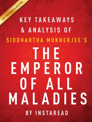cover image of The Emperor of All Maladies by Siddhartha Mukherjee