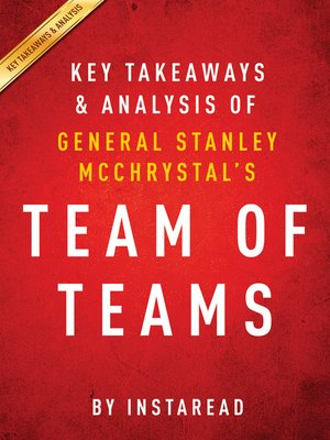 cover image of Team of Teams by General Stanley McChrystal / Key Takeaways & Analysis