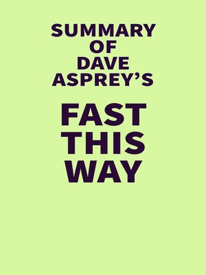 cover image of Summary of Dave Asprey's Fast This Way