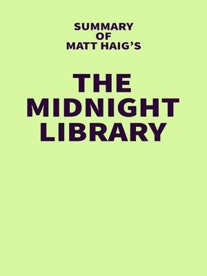 cover image of Summary of Matt Haig's the Midnight Library
