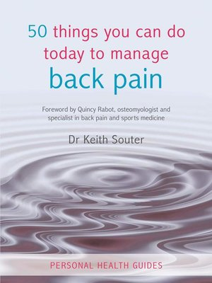 cover image of 50 Things You Can Do Today to Manage Back Pain