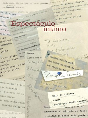 cover image of Espectaculo Intimo