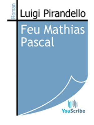 cover image of Feu Mathias Pascal