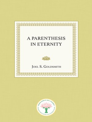 cover image of A Parenthesis in Eternity