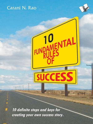 cover image of 10 Fundamental Rules of Success